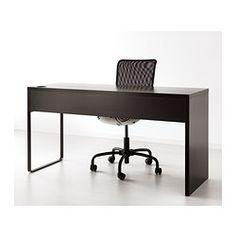 Pour danae Largeur: 142 cm Profondeur: 50 cm Hauteur: 75 cm MICKE Bureau - brun-noir - IKEA - 99$