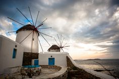 Windmills of the Mykonos Island (Hellas) - Cyclades, Agean Sea, Greece Santorini, Mykonos Grecia, Mykonos Island Greece, Mykonos Town, Greece Islands, Greek Islands To Visit, Best Greek Islands, Places Around The World, Around The Worlds