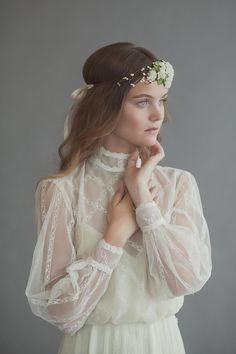 Lovely bohemian inspired wedding with a Victorian inspired dress