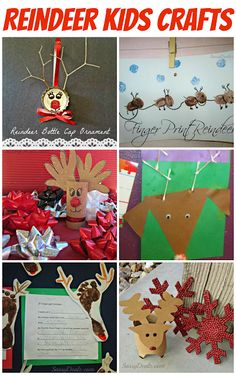 List of Cheap Christmas Reindeer Crafts For Kids! It's almost Christmas time which means it's time to make some reindeer crafts with your kids! #Christmas crafts for kids | CraftyMorning.com