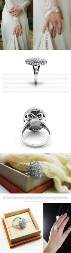 Twilight breaking dawn bella's engagement ring replica sterling silver