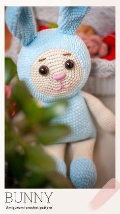 Newborn Crochet Patterns, Crochet Bunny Pattern, Crochet Rabbit, Easy Crochet Patterns, Crochet Patterns Amigurumi, Cute Crochet, Crochet For Kids, Crochet Ideas, Knitting Patterns