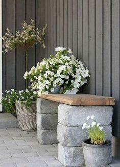 30 DIY Bench Seating Area for Backyard Landscaping Ideas