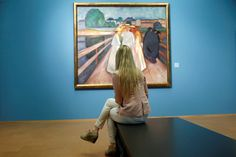 Edvard Munch 'The ladies on the bridge' at the National Gallery in Oslo.