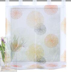 Raffrollo, Home Wohnideen, »RAWLINS« ab 33,99€. Transparenter Stoff, Einseitig bedruckt, Echter Voile, Leichte Qualität, mit schönem »KREISE«-Motiv bei OTTO