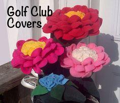 Golf Club Covers Ladies Flower Bouquet