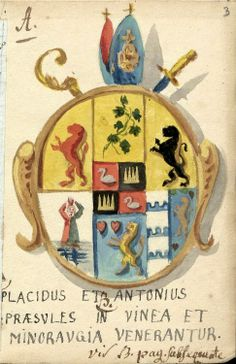 Wappenbuch der adeligen Gesellschaft zu Ravensburg, [s.l. ; Ravensburg?], um 1780 (urn:nbn:de:bvb:384-uba002026-1) [OWB, Ms Cod.I.7.8.2, f°3r]