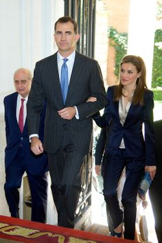 King Felipe VI of Spain and Queen Letizia of Spain attend a meeting with the victims of terrorism on their first official event since the King's official coronation ceremony, 21.06.2014 in Madrid, Spain.