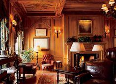 Английский стиль в интерьере (50 фото): аристократично, сдержанно и изысканно http://happymodern.ru/anglijskij-stil-v-interere-43-foto-aristokratichno-sderzhanno-i-izyskanno/ Резные деревянные панели в интерьере гостиной