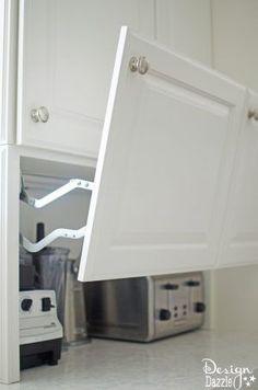 Modern Kitchen Interior You will love all the Creative Hidden Kitchen Storage Solutions in this remodel! Kitchen Storage Solutions, Kitchen Organization, Organized Kitchen, Organizing, Storage Organization, Home Renovation, Home Remodeling, Kitchen Remodeling, Diy Kitchen Remodel