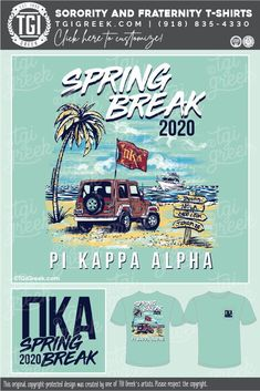 Pi Kappa Alpha shirts by TGI Greek! sorority apparel, sorority shirts, custom shirts, custom sorority shirts, custom fraternity apparel, custom tees, fraternity shirts, beach, spring break, palm tree, pike, jeep #pikappaalpha #tgigreek Alpha Shirt, Pi Kappa Alpha, Fraternity Shirts, Sorority And Fraternity, Sorority Outfits, Sorority Shirts, Tee Shirts, Spring Break Trips, Custom Tees
