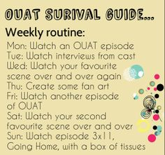 I have made a OUAT survival guide for all oncers to use until March! We all need help until then, especially after an episode like Going Home...