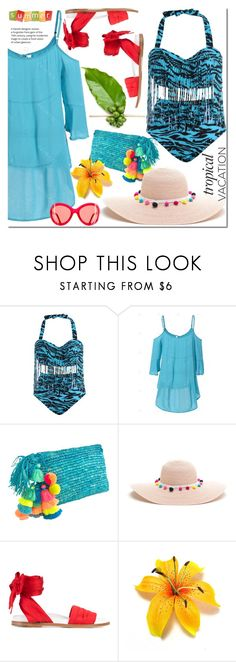 """""""Welcome to Paradise: Tropical Vacation"""" by zon-vito ❤ liked on Polyvore featuring Marques'Almeida, Summer, vacation and TropicalVacation"""