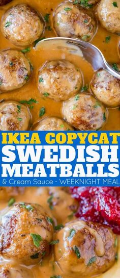 Ikea Copycat Swedish Meatballs and GravyYou can find Meatballs and gravy and more on our website.Ikea Copycat Swedish Meatballs and Gravy Meatballs And Gravy, Crock Pot Meatballs, Swedish Meatballs Crockpot Easy, Beef Dishes, Food Dishes, Carne, Meat Recipes, Dinner Recipes, Recipies