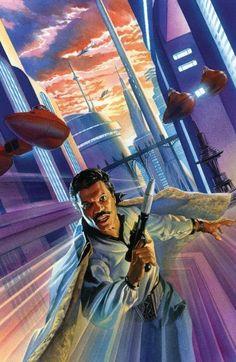 Alex Ross: Lando in Cloud City Star Wars Poster, Star Wars Art, Star Trek, Saga, Alex Ross, Disney Star Wars, Starwars, Lando Calrissian, Cloud City