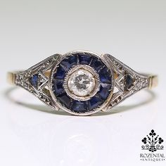 Period: Art deco (1920-1935) Composition: 18K Gold & Platinum. Stones: - 1 Old mine cut diamond of H-SI3 quality that weighs 0.15ctw. - 2 Rose cut diamonds of J-SI3 quality that weigh 0.10ctw. - 14 Na