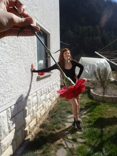 Forced Perspective Photography - a Flower Skirt.