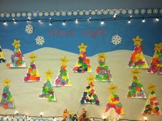 Christmas bulletin board by the wonderful Mrs. Amanda