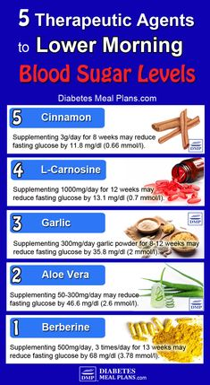 5 Therapeutic Agents to Lower High Morning Blood Sugar Levels