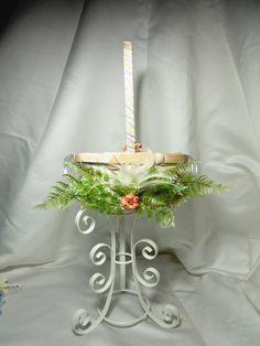 Flower Girl Basket Or Wedding Woven Basket With by TheWeddingPetal, $35.00