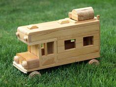 Eco-friendly Wooden Children's Toy Car Camper. $34.99, via Etsy.