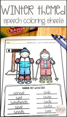 These No Prep speech printables are a quick and easy way to target a variety of speech sounds during therapy sessions. These winter themed coloring sheets are also a fun activity to send home for speech homework. These motivating sheets are great to have on hand in the speech room for a quick and effective speech lesson with your elementary students. Click here to see more of this articulation therapy product!