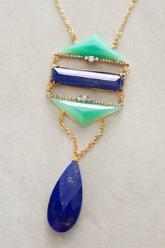 Lapis Ladder Necklace by Indulgems