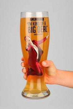 Anchorman Beer Glass
