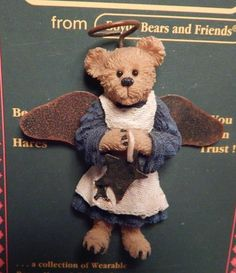 BOYDS BEARS ANGEL PIN CELESTE, HOLDING A STAR in Dolls & Bears, Bears, Boyds | eBay