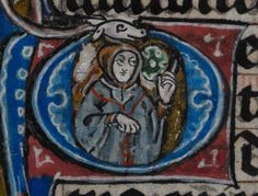 Detail from medieval manuscript, British Library Stowe MS 17 'The Maastricht Hours', f252v