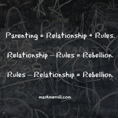 What does parenting lead to when a relationship and rules are missing?? #parenting