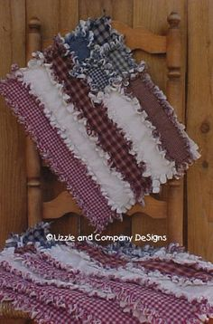 RaGGeDy FLaG PLaCeMaTs PDF ePattern by LizzieAndCoPatterns, $6.00