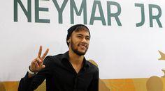 Neymar, durante la inauguración del Instituto Proyecto Neymar Jr, en Sao Paulo