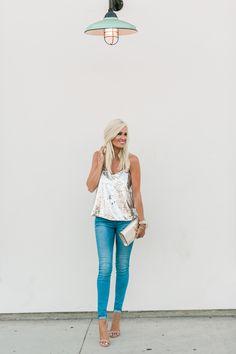 Sequin Tank + Skinny Jeans - Mckenna Bleu