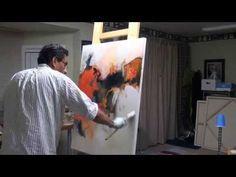 DEMOSTRACION DE PINTURA ABSTRACTA (MAESTRA CESY VIESCA) - YouTube