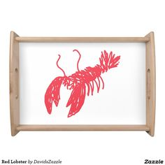 Red Lobster Serving Tray  Search the name of this product in the search bar on my Zazzle product page to find all products with this design!  #lobster #illustration #design #red #line #sketch #drawing #sketchy #ocean #sea #life #creature #claw #crawl #nature #planet #earth #chic #modern #contemporary #buy #sale #zazzle #cool #sweet #neat #swim #swimming #under #the #fish #fishing #food #foodie #eat #delicious #placemat #kitchen #dining #serving #tray #lunch #breakfast