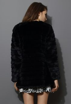 Channel Quilted Faux Fur  //