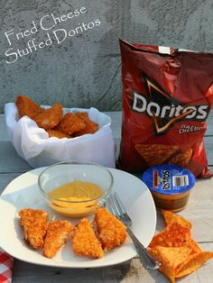 Fried Cheese Stuffed Doritos