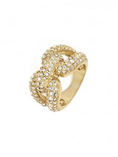 add some bling with this gold loop ring