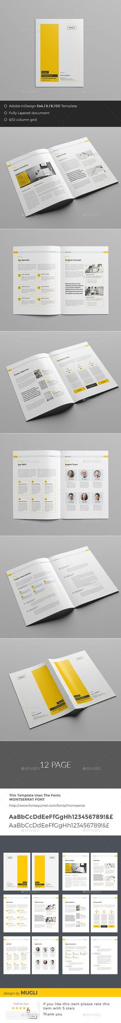 Clean And Professional Proposal Template Indesign Indd  Proposal