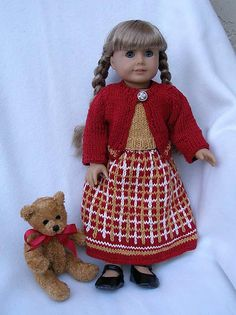 "Ravelry: American Girl 18"" doll Dressing for the Holidays pattern by Ase Bence"