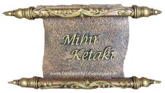 Name Plate 1 - Adriana Cox House Name Signs, House Names, Name Plates For Home, Name Boards, Wedding Plates, Wedding Name, Indian Art, Clay Art, Wall Murals