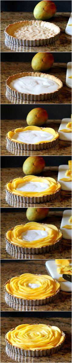 Mango Tart (GF, Paleo, Vegan, & Refined Sugar Free) | from Bakerita.com #recipe #paleo #vegan #glutenfree