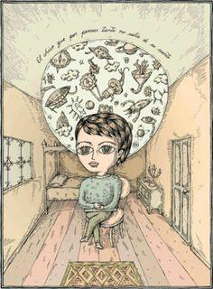 """""""El chico que por pensar tanto, no salía de su cuarto"""". Fito Espinoza."""