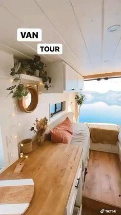 Van Conversion Interior, Camper Van Conversion Diy, Van Interior, Camper Interior Design, Kombi Motorhome, Build A Camper Van, Diy Van Camper, Kombi Home, Bus House