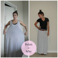 Little Miss Kimberly Ann: Refashion: Huge Dress to Adorable Maxi Skirt #AODlinkup  This makes me crack up! Who wants to turn a moomoo into a skirt?!? Girl, you have too much time on your hands!