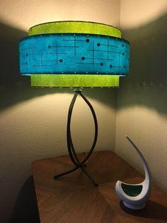 Mid Century Style 3 Tier Fiberglass Lamp Shade Retro Modern 15X9 Turquoise Mid Century Modern Lamps, Mid Century Decor, Mid Century Modern Furniture, Mid Century Modern Design, Mid Century Style, Retro Stil, Vintage Stil, Vintage Lamps, Retro Furniture
