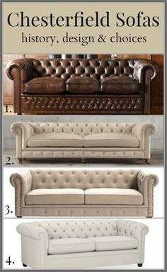 Chesterfield sofas history, design & choices http://mysoulfulhome.com