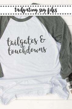 Are you ready for some football? Not until you use these fun SVG files from Everyday Party Magazine to make a shirt or bag. #Football #Tailgate #SVG