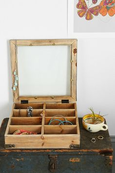 Reclaimed Wood Display Case - Urban Outfitters